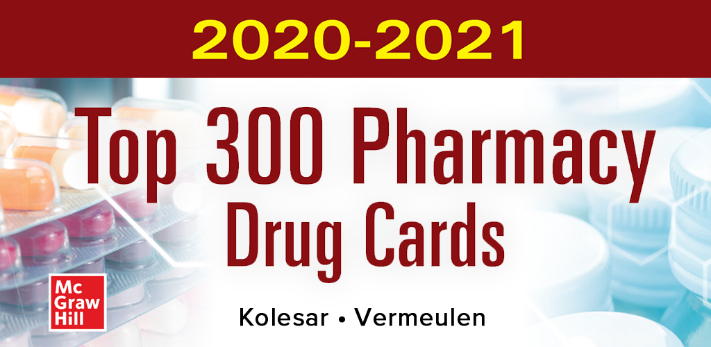 flashcards for pharmacology mcgraw hills top 300 pharmacology drug cards