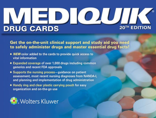 flashcards for pharmacology mediquik drug cards