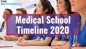 medical school timeline 2020