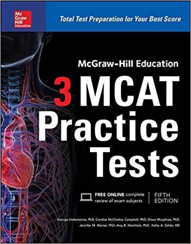 mcgraw hill best mcat practice tests