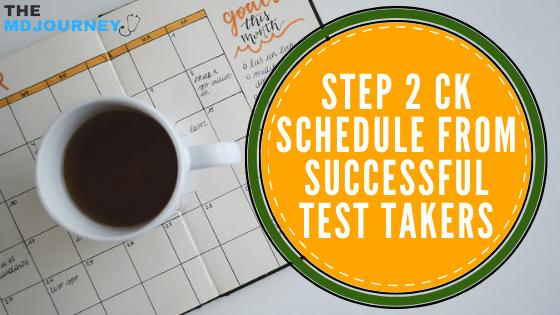 step 2 ck schedule