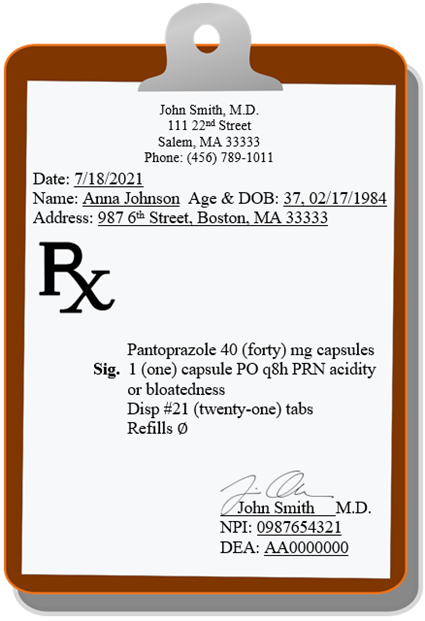 example of a prescription