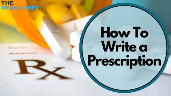how to write a prescription