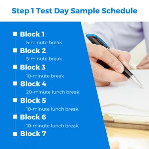 step 1 test day sample schedule