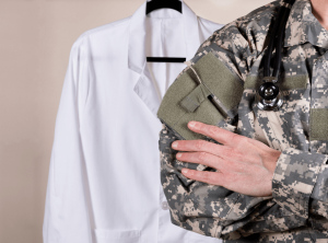 how to become a military doctor